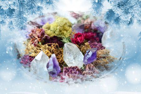 Как использовать кристаллы в новогодние праздники