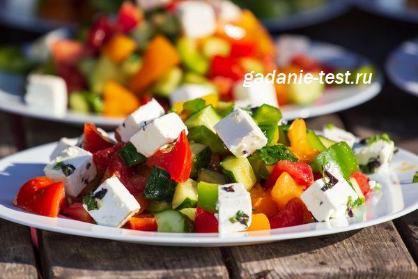«Греческий» салат с сыром Фета