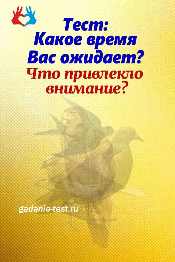 Онлайн тест: Первая птица, которую увидите, расскажет Вам прогноз ближайших событий в Вашей жизни  https://gadanie-test.ru/