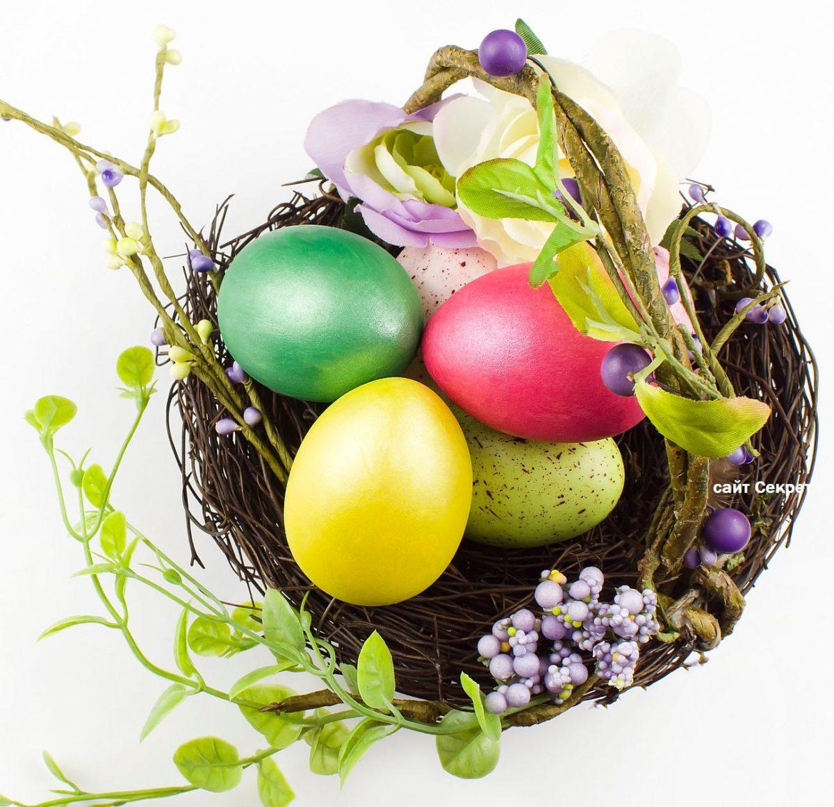 Каким цветом красить Пасхальные яйца