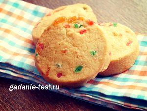 Быстрые печенья из лимонного песочного теста