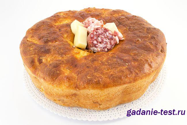 Быстрый завтрак. Колбасный хлеб https://gadanie-test.ru/