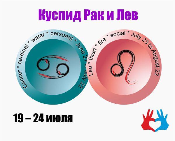 Куспид Рак и Лев /19 – 24 июля/ - https://gadanie-test.ru/