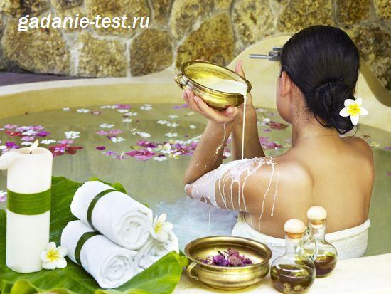 Девушка принимает ванну Клеопатры https://gadanie-test.ru/