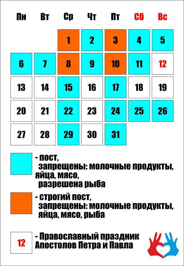 Календарь Православных постов на июль - https://gadanie-test.ru/
