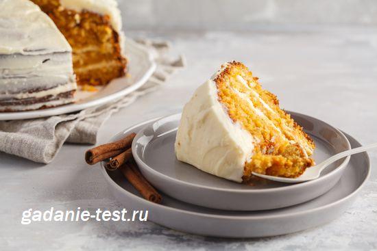 Торт с сырным кремом https://gadanie-test.ru/